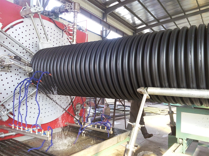 Internal ribbed pipe equipment